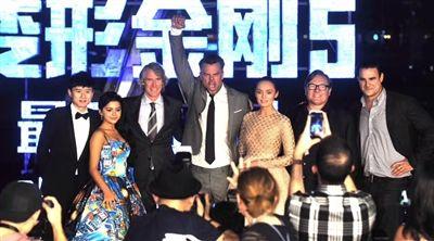 《变形金刚5》于广州举行全球首映礼