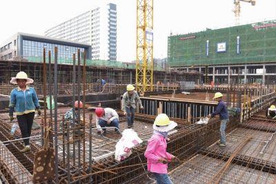 南通海门十余个在建公建项目主体结构完工