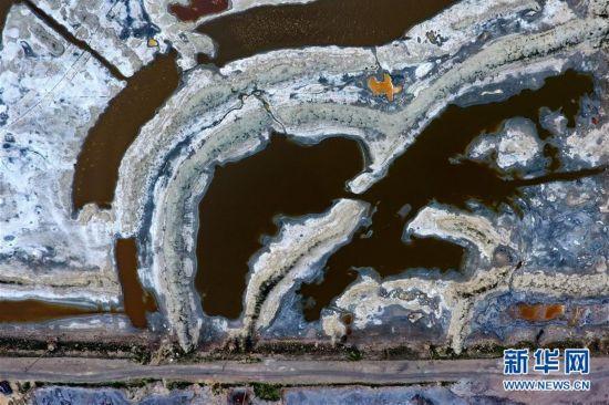 多彩盐湖入画来图片