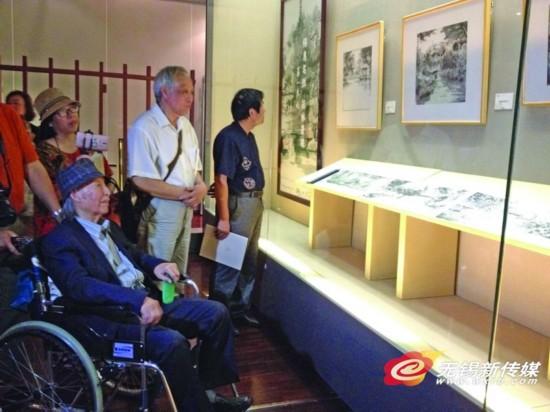 """无锡95岁王木东创作出煌煌长卷""""寄畅园全景"""""""