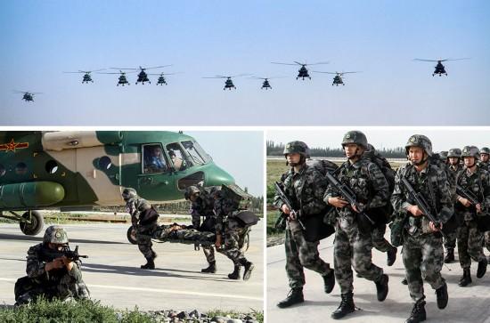 高清:新疆军区陆航飞行员变身突击队员去战斗