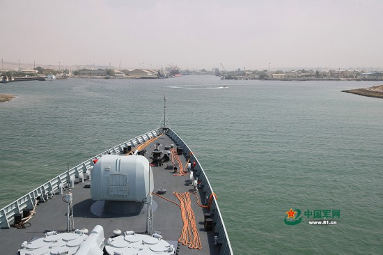 高清:中国海军远航访问编队多型舰艇抵达伊朗