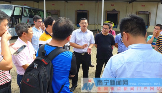 第4届南宁物流周代表团实地考察南宁市物流业建设