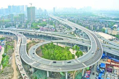二环线常码头立交又一匝道通车 从汉阳经长丰大道到三环线仅需12分钟