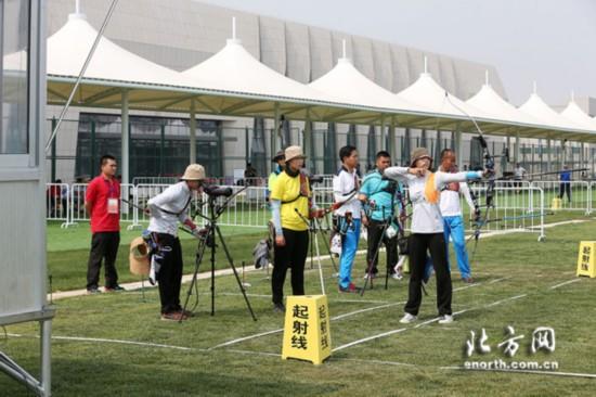 全运射箭测试赛圆满完成崭新素描助场馆扬射手自行车图片