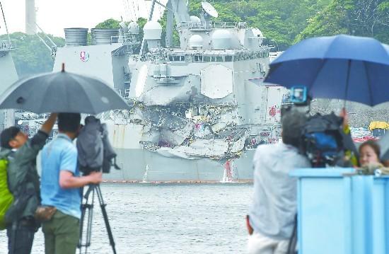 美军神盾舰被撞调查疑云多 事故双方说法矛盾