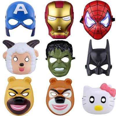 图案为卡通人形或者动物的形状,孩子们非常喜欢佩戴这些面具玩具玩耍.