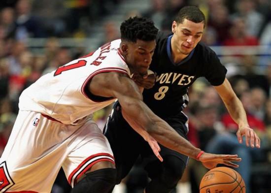 NBA重磅消息:公牛同意送走巴特勒 森林狼送出拉文邓恩(图)