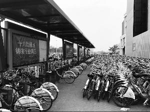 """南京共享单车围城 公共自行车快速""""补仓""""突围"""