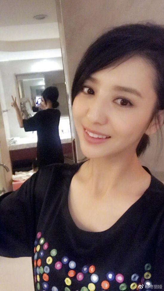 佟丽娅晒短发分享展示图片