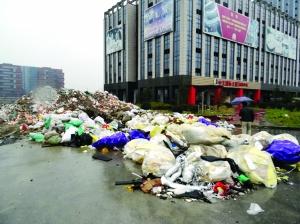 无锡路边现一堆偷倒建筑垃圾 责任单位被罚1万