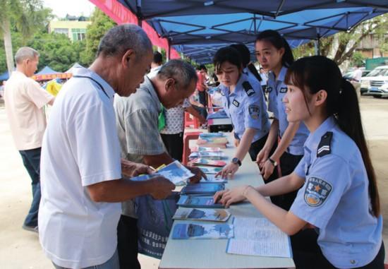 江州区提升群众安全感便民服务活动周启动