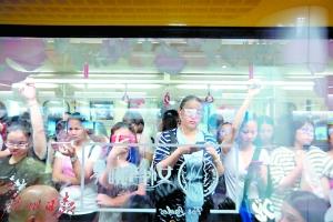 广州地铁一号线开设女性车厢 首日客流组织整体有序
