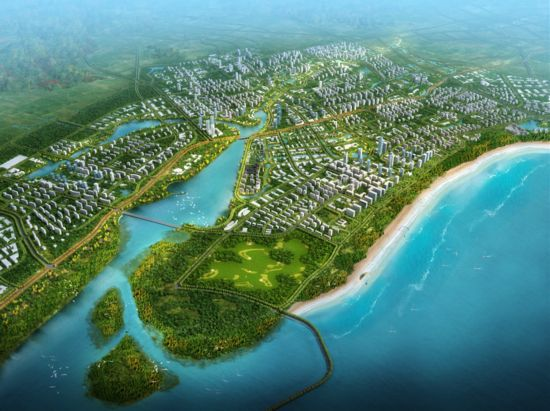 生态敏感区分布和社会文化等需求,统筹考虑滨海新城森林城市建设总体图片