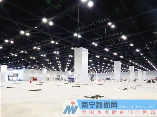 """南宁国际会展中心场馆升级换代 """"朱槿花""""添新翼"""