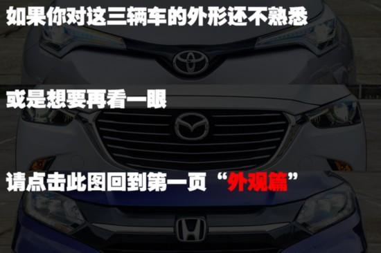 C-HRCX-3缤智台北三车对比