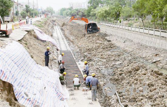 盐城大丰新德中心河整治工程加快推进