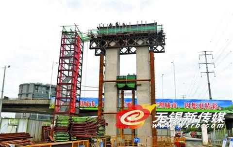 无锡江海西路快速化改造工程有序推进