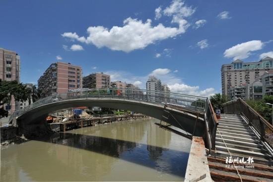 福州晋安河新湖塍桥月底前启用 有望解决汛期阻水问题