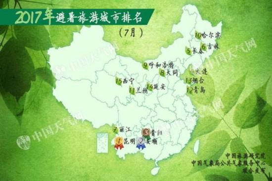 2017年避暑旅游城市排名公布 烟台青岛上榜--山东频道