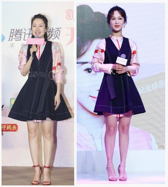 穿同款少女裙,杨紫居然输给了关关妈?