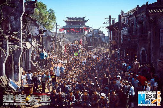 《建军大业》累计25000人次参演 创近十年新纪录