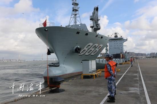 高清:中国人民解放军驻吉布提保障基地成立暨部队出征仪式在湛江举行【6】