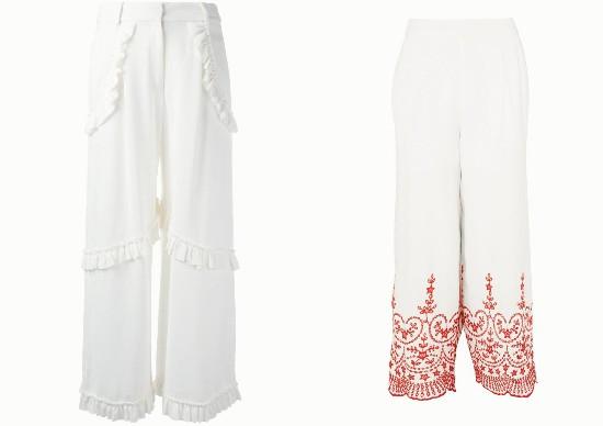 只要款式选的好,没有什么白裤子穿不了!