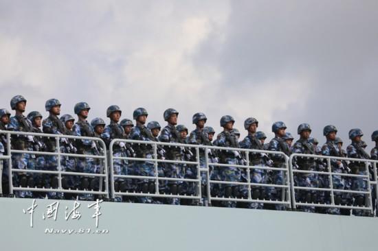 高清:中国人民解放军驻吉布提保障基地成立暨部队出征仪式在湛江举行【7】
