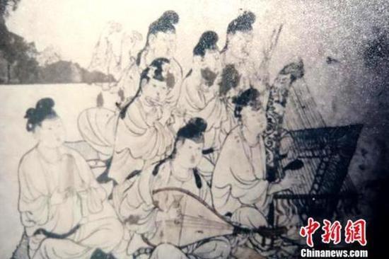 东壁乐舞图。陕西省考古研究院供图