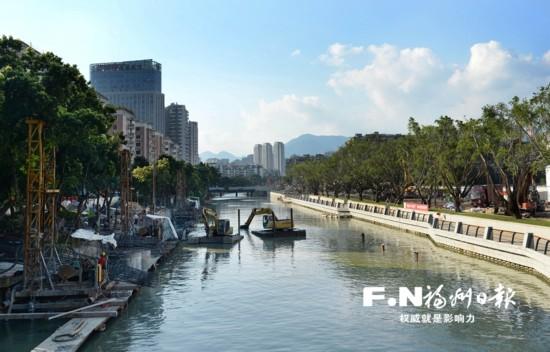 鼓台片区7条内河完成清淤 城区水系治理