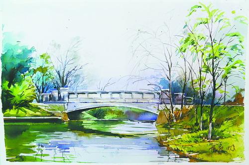 十位师生手绘嘉庚学院校园风景图 被赞景美情更深