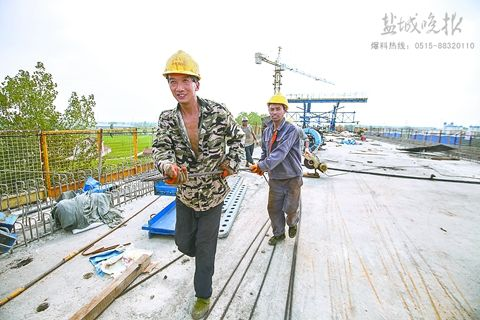 盐徐高铁盐城段桥梁下部结构建设完成逾9成