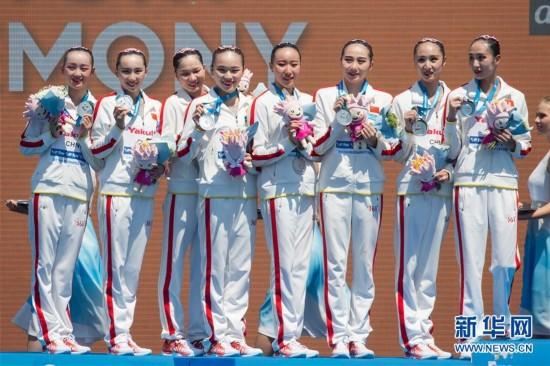 国际泳联世锦赛:中国队获花游集体技术自选银牌
