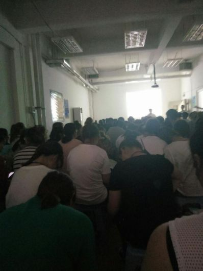 沈阳城市建设学院学生抗议