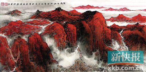 2017年美术展览许钦松:中国画要讲传统更要强调现代形态