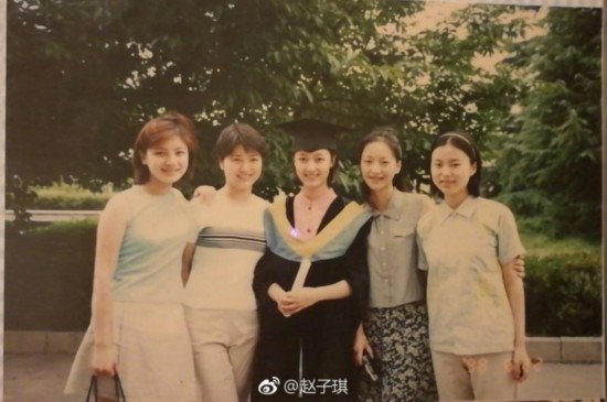 回忆杀!胡可赵子琪竟然是大学同学 少女时代旧照漂亮