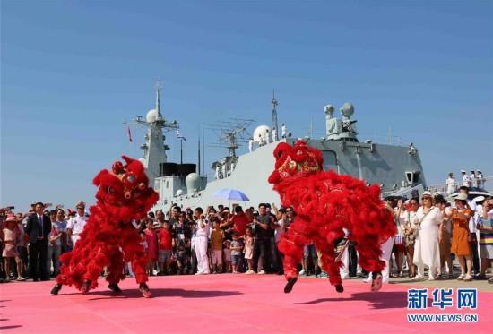 中国海军远航访问编队抵达希腊进行友好访问