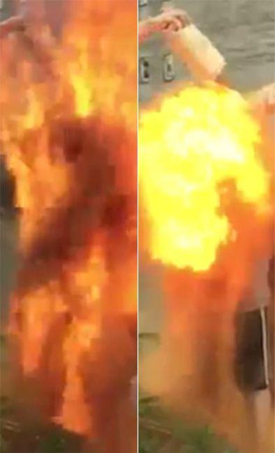 丹麦25岁男子进行传统纪念仪式险被烧死