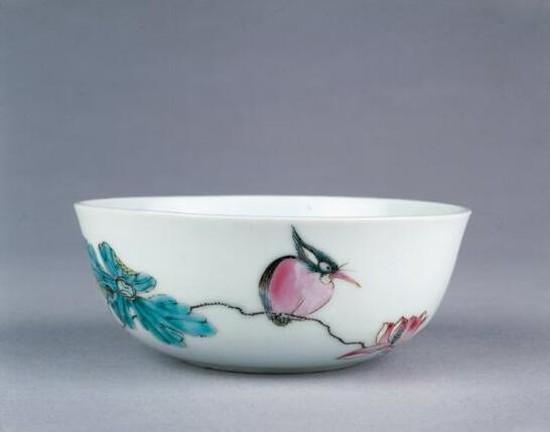 清雍正・粉彩瓷碗 大英博物馆馆藏