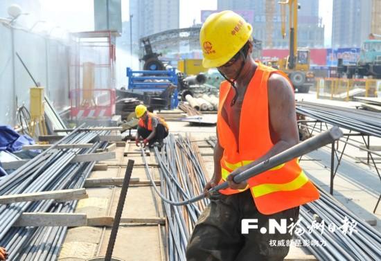 福州地铁6号线站点建设加速进行 攻坚有热度更有温度