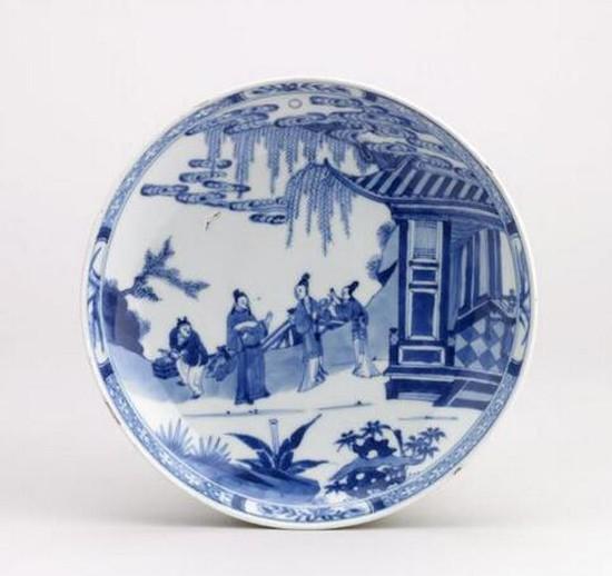 清雍正・青花瓷盘 大英博物馆馆藏