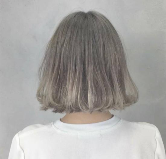短发直发造型图片