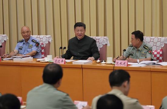 中共中央总书记,国家主席,中央军委主席习近平向军事科学院,国防大学