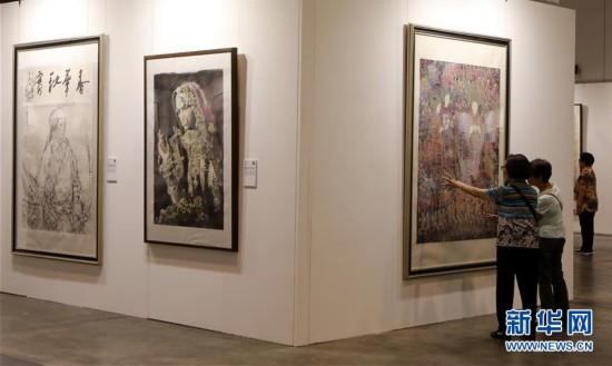 """(文化)(4)""""全球水墨画大展""""在香港举行"""