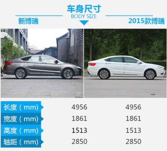 中国品牌的领导者 吉利博瑞新老车型对比-图3