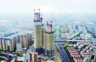 超高层综合体拔地而起 将成南京河西地标建筑