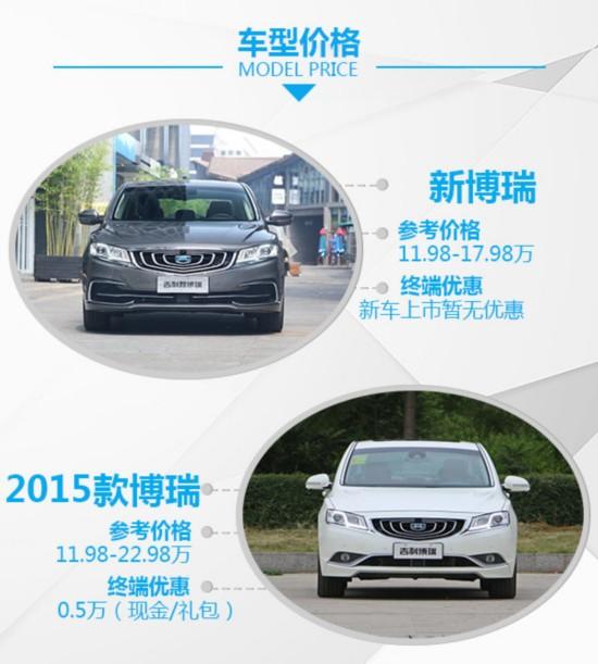 中国品牌的领导者 吉利博瑞新老车型对比-图2