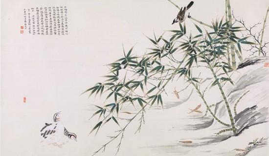竹禽图  潘明