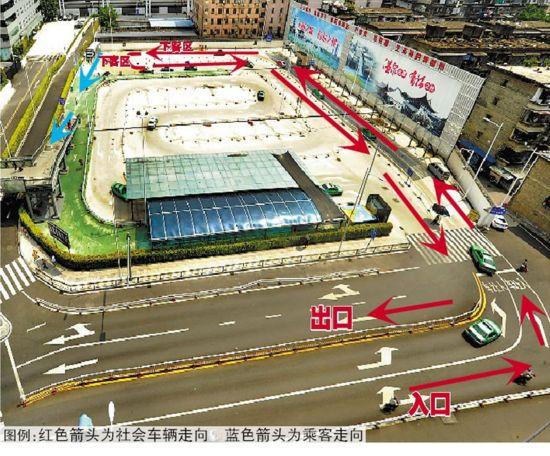 福州火车站南广场将设置社会车辆临时下客区 即停即走